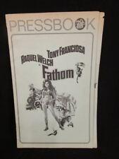 VINTAGE 1967 Fathom Raquel Welch Anthony Franciosa Female Spy MOVIE PRESSBOOK