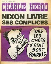 """""""CHARLIE HEBDO N°195 du 12/8/1974"""" Gébé : NIXON LIVRE SES COMPLICES"""