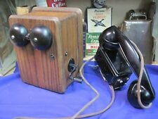 WESTERN ELECTRIC ANTIQUE TELEPHONE METAL NONDILE SPACE SAVER OAK RINGER BOX