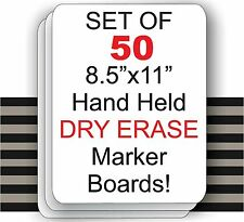"Set Of 50  - 8.5"" X 11"" Student Laptop Dry Erase Marker Boards ( SET OF 50 )"