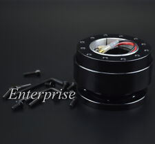 Whole Black Universal 6 Hole Ball Steering Wheel Quick Release Hub Adapter Snap