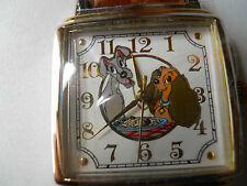 BRAND NEW DISNEY LADY and THE TRAMP MENS LEATHER ANALOG & QUARTZ WATCH.5902/7500