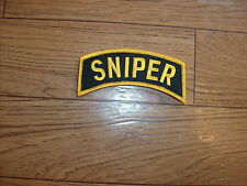 """U.S.MILITARY ARMY SNIPER ROCKER PATCH OVERSIZE 4"""" INCHES X 1 1/4"""" INCHES"""