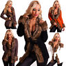 SEXY WOMEN COAT Long Sleeve Ladies Fur Cardigan Jacket Size 6 8 10 12 14 JUMPER