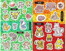 Sandylion Vintage Pokemon Scrapbooking Stickers 2 Assorted Maxi Sheets RETIRED