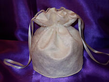 Ivory lace and ivory satin dolly bag for bride / bridesmaid/ prom