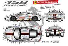 [FFSMC Productions] Decals 1/18 Ferrari F-458 Challenge Alex Popow (season 2012)