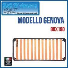RETE A DOGHE IN FAGGIO NATURALE  PER MATERASSI SINGOLO 80 X 190cm ORTOPEDICA