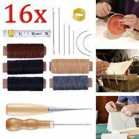 7 in 1 Mehrzweck Lederhandwerk Werkzeug Nähen Knicken Leder Rand Beveler Tool OX