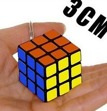 NEW Mini 3x3x3 3x3 Magic Cube Key Chain Puzzle Speed Toy Ornaments 1PC