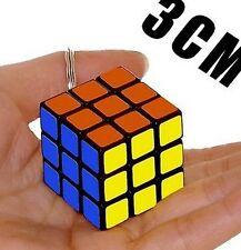 NEW Mini 3x3x3 3x3 Magic Cube Key Chain Puzzle Speed Toy Ornaments 1PC