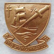 Insigne RETIRAGE 1° BFMC BATAILLON FUSILIERS MARINS COMMANDO Kieffer WWII FNFL