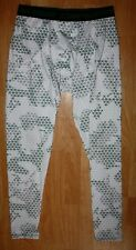 Mens Compalssion Compression Pants Geometric Print Leggings MMA Fitness Size XL