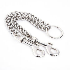 Double Dog Coupler Twin Lead 2 Way Safety Chain Walking Leash For Two Pet Dogs