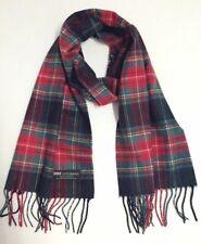 New Men's 100% CASHMERE SCARF Plaid Black / Red / Green Scotland SOFT Wool Wrap