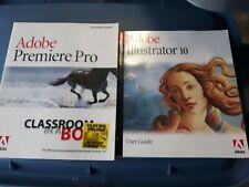Adobe Illustrator 10 Win/Mac User Guide Book No Software plus adobe premiere pro