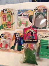 BT16 Lot of 7 Small Bird Interactive Toys Penn Plax,JW, Ph Mirror Foot Bells
