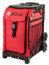Zuca Bag Chili Insert & Black Frame w/Flashing Wheels - Free Seat Cushion