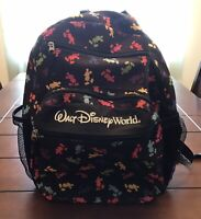 Walt Disney World Parks Exclusive Mickey Mouse Backpack Black Rainbow Silhouette