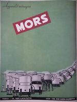 PUBLICITÉ DE PRESSE 1951 APPAREILS MÉNAGERS MORS - ADVERTISING