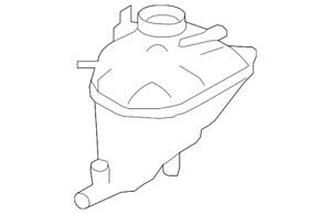Genuine Mercedes-Benz Recovery Tank 164-500-00-49