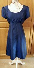 Lovely Short Sleeved Blue Dress in Crinkle Fabric size 12