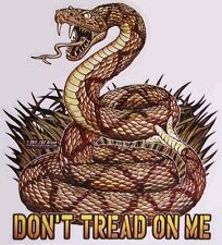 Window Bumper Sticker Military Don't Tread on Me Rattlesnake NEW die cut Decal