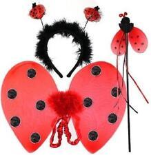 Red LADYBIRD Wings Bopper Wand HEADBAND FANCY DRESS Hen Party SCHOOL FUN Insect