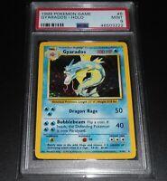 PSA 9 MINT Gyarados 6/102 Base Set HOLO RARE Pokemon Card