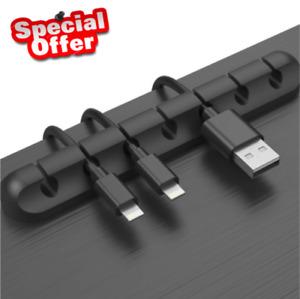 Silikon USB Kabelwickler Desktop Management Clip Kabelhalter