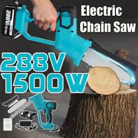 288V 1500W Woodworking Saw Electric Chain Saw Wood Cutter Cordless + 1/