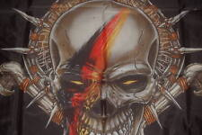 Totenkopf Skull Deutschland Germany schwarz rot gold Flagge 150 x 90 cm # 317