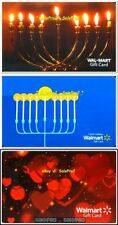 3x WALMART ST. VALENTINE'S RED HOT LOVE JEWISH MENORAH COLLECTIBLE GIFT CARD LOT