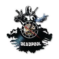 Deadpool Wall Clock Vintage Movie Theme Vinyl CD Clocks Wall Watch Home Decor