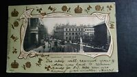Birmingham, Colmore Row Tuck Gilt Embossed 1903 Postcard