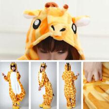 Unisex Adult Pajama PJ Plush One Piece Giraffe Animal Costume HALLOWEEN Sz L