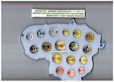 Lithuania, Lietuva - Litas + Euro coin set