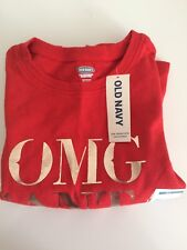 Girls's Kids Red Sweatshirt Top T- Shirt Age 2 Old Navy Christmas OMG Santa 🎅
