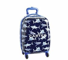 Pottery Barn Kids Shark Hard Case Rolling Luggage Small