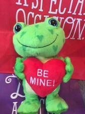 "Hallmark Frog Singing 10"" Be Mine Animated Hearts A Hoppin Motion & Sound Nwt"