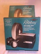 2 Vintage Sawyers Rototray 100 Slide Trays for 2X2 Slides New Factory Sealed