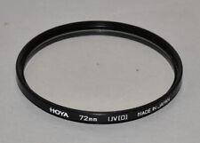 Genuine Hoya 72mm UV filter