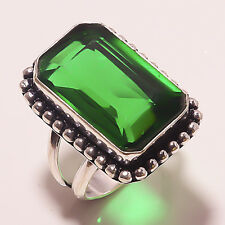 FACETED CHROME DIOPSIDE HANDMADE Jewelry  RING 8 A-80