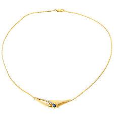 Reinheit SI Echte Diamanten-Halsketten & -Anhänger im Collier-Stil aus Gelbgold mit Brilliantschliff