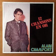 "ALAIN CHAMFORT ""12 Chansons en OR"" 33t Vinyle LP Compilation France 1980"