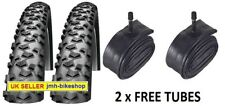 Pair of 20 inch bicycle tyres and tubes 20 x 2.00 Ridgepac suits 20*1.9 or 2.125