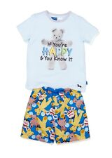 Peter Alexander Boys Size 6 Years Playschool Summer Shorts Pyjama Set Big Ted