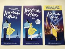 3x different Flyers AN AMERICAN IN PARIS Dominion Theatre London