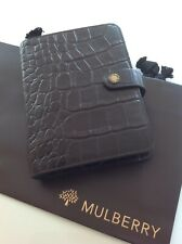 Stunning Mulberry Agenda Organiser Filofax In Dark Brown Nile Leather Excellent