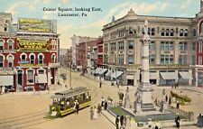 Center Square & Trolley Car in Lancaster PA OLD